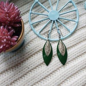 One of a kind green earrings